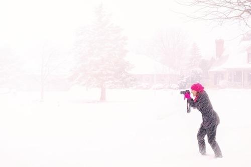 Håll värmen under utomhusfotograferingar